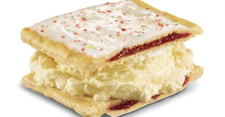 Carl39s Jr39s and Hardee39s HandScooped Strawberry PopTart Ice Cream Sandwich