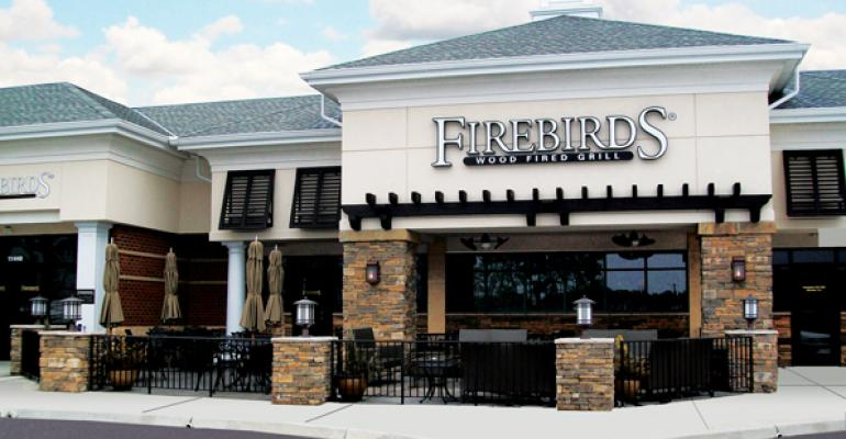 Firebirds Wood Fired Grill is in a niche between highend and casualdining steak concepts
