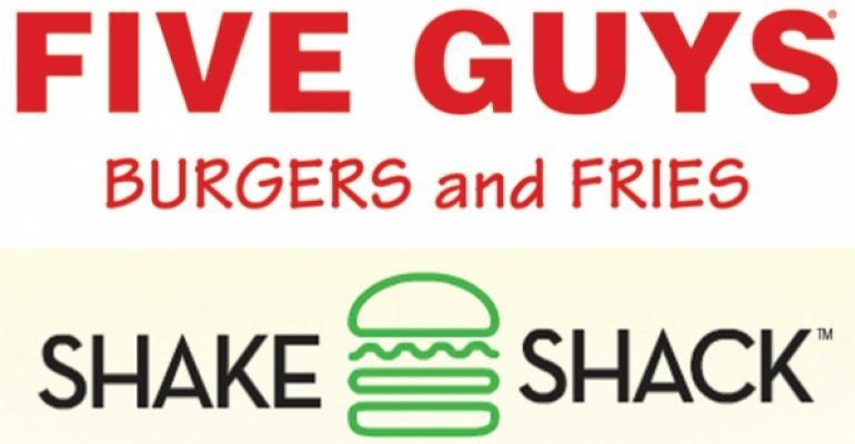 Five Guys Burgers and Fries Shake Shack logos
