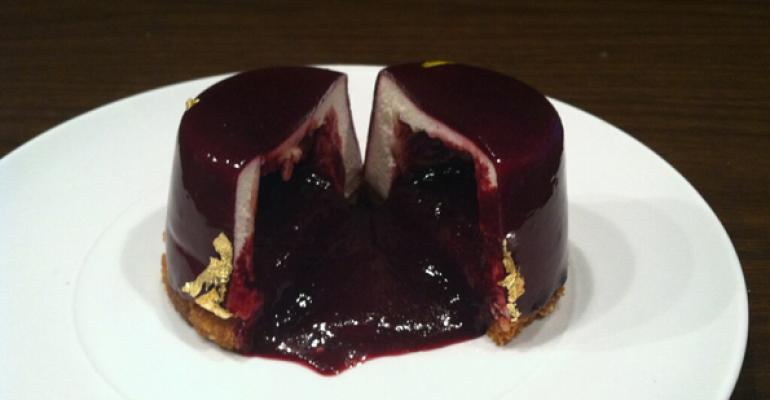 Sylvain Marrari39s molten blueberry cake served at Chefs Club by Food amp Wine