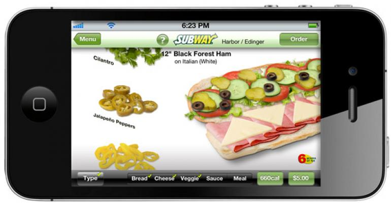 Subway39s app lets users virtually build their sandwich