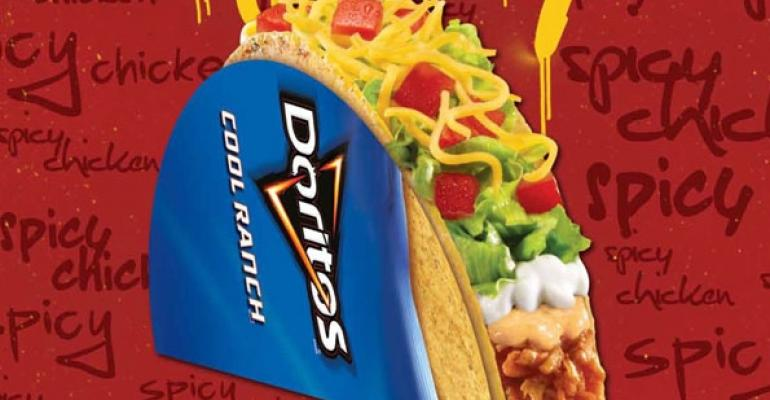 Taco Bells Spicy Chicken Cool Ranch Doritos Locos Taco