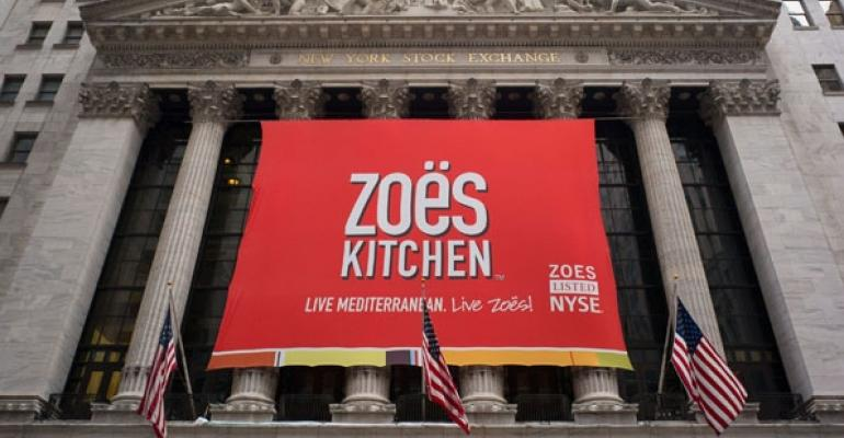 Zos Kitchen debuted at the New York Stock Exchange last week