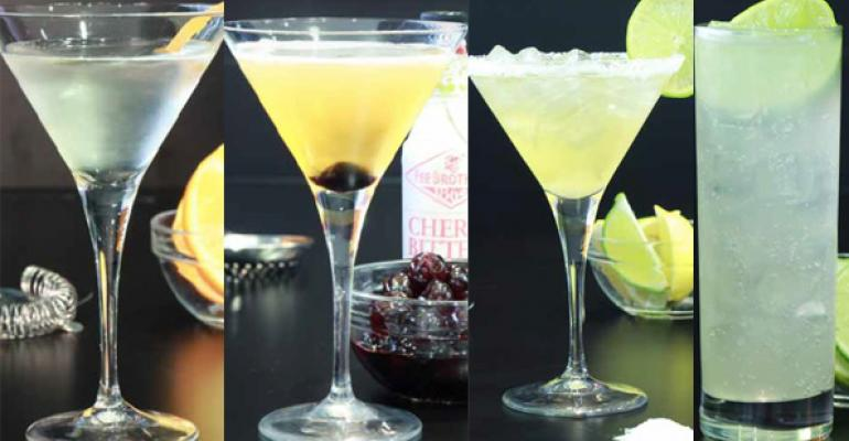From left Ultimate Martini Rye Manhattan Smoky Margarita Moscow Mule