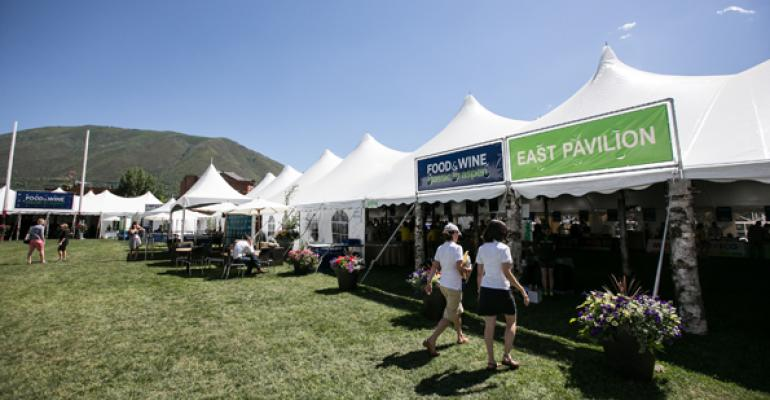 Outside the Grand Tasting Pavilion at the Food amp Wine Classic