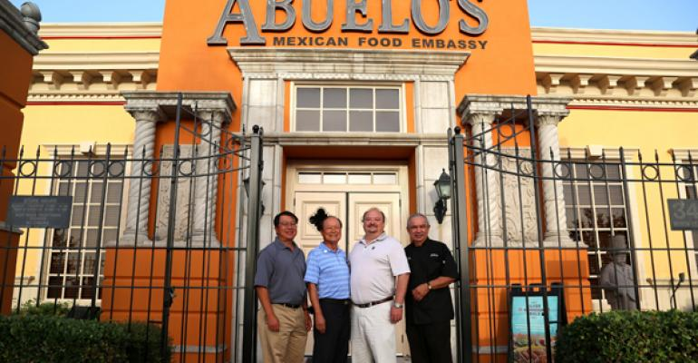 At Abuelo39s in Plano Texas from left Robert Lin president James Young founder chairman and CEO Dirk Rambo founder and COO and Luis Sanchez executive chef