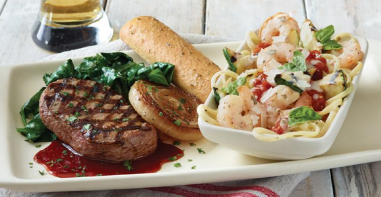 Applebee39s quotTake Twoquot offering with its Grilled Vidalia Onion Sirloin and Shrimp Scampi Linguine