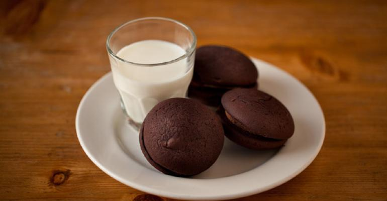 Robert39s Maine Grill serves a Whoopie Pie and Milk dessert