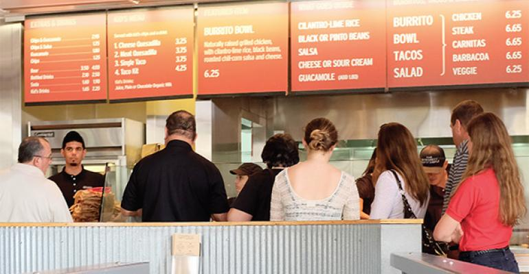 Chipotle has been working to move more customers through the line efficiently during busy periods by focusing on ingredient prep putting strong staff in key positions and using an expeditor on the line