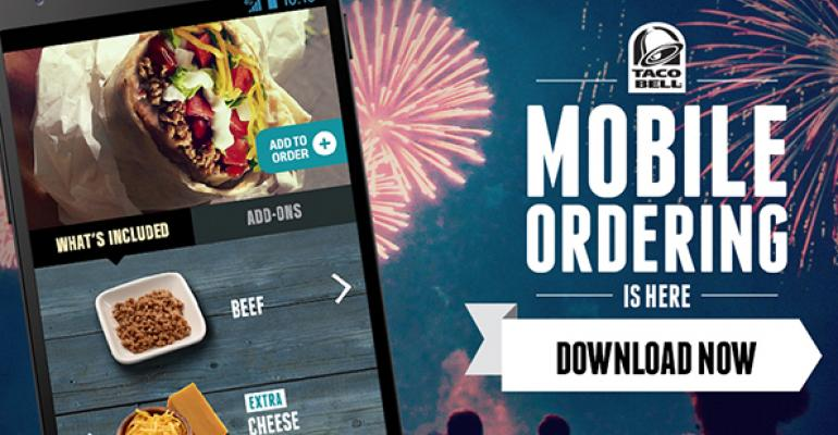 Taco Bell launches mobile ordering nationwide