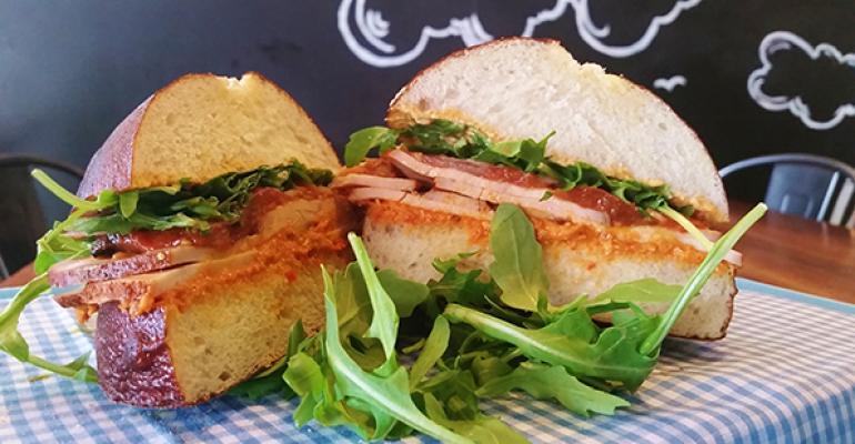 Mendocino Farms39 Smoked Turkey Romesco sandwich
