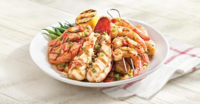 Red Lobster39s WoodGrilled Lobster Shrimp and Salmon