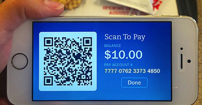 Customers can load funds onto their account then tap the quotPayquot button and scan their account QR code at the register to pay