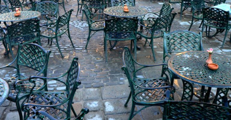 Restaurant on Plaza de la Catedral in old Havana Cuba