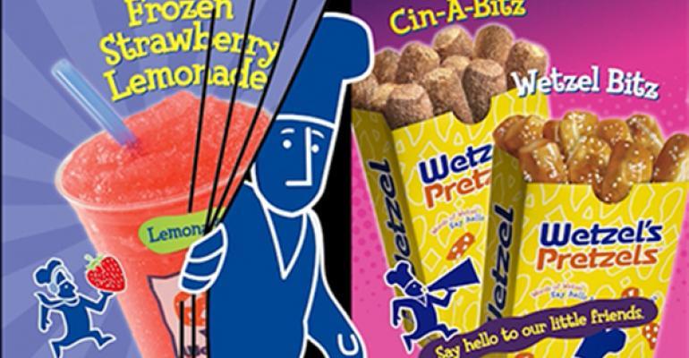 Wetzel's Pretzels puts animated twist on menu boards