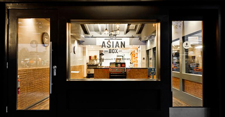 Exterior of Asian Box in Southern California