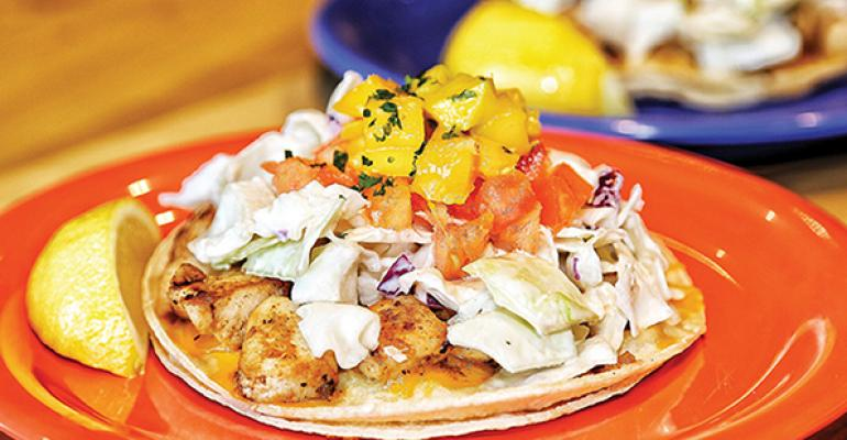 One of the most popular Coconut39s Fish Cafeacute items are two fish tacos on glutenfree whitecorn tortillas for 1149 in the Dallas store