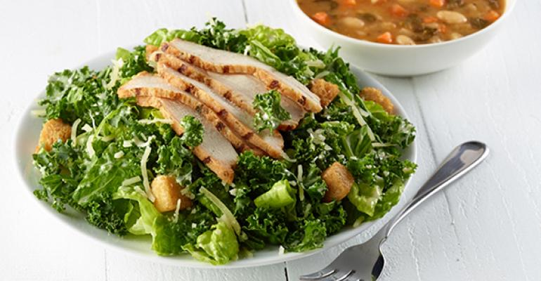 Corner Bakery Cafeacute Kale Caesar Salad