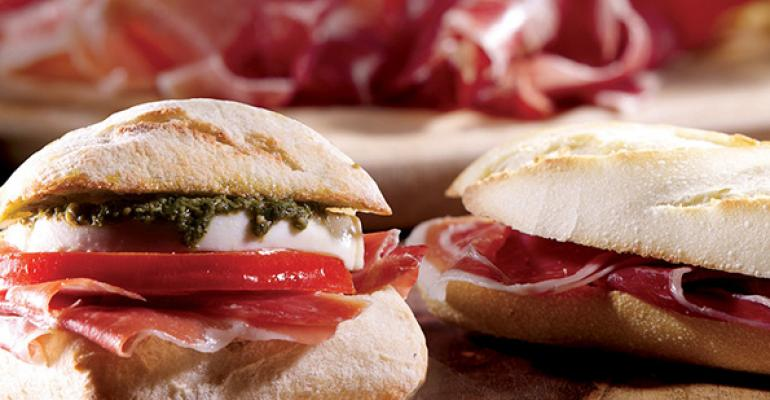 100 Montaditos offers twotothreebite sandwiches on tiny baguettes made with simple yet premium ingredients