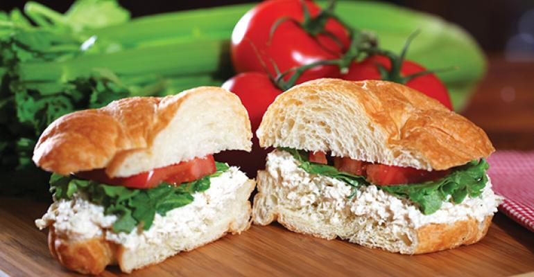 Chicken Salad Chick offers 15 types of chicken salad served on bread or lettuce as well deli sandwiches and side dishes