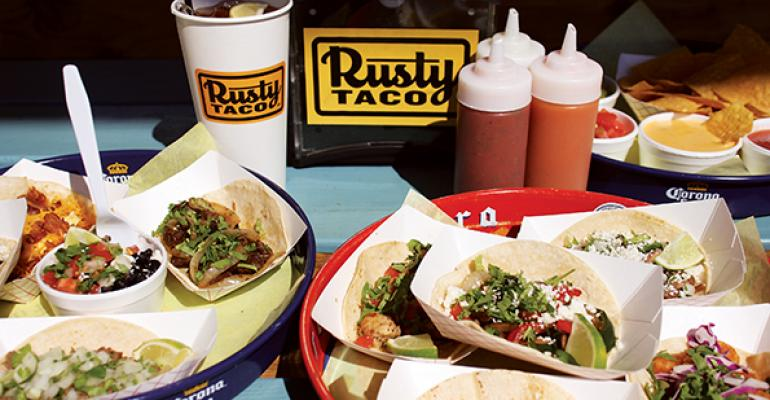 Rusty Taco39s menu offers breakfast and traditional tacos as well as sides such as guacamole salsa queso and black beans