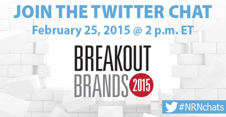 NRN hosting 2015 Breakout Brands Twitter chat today