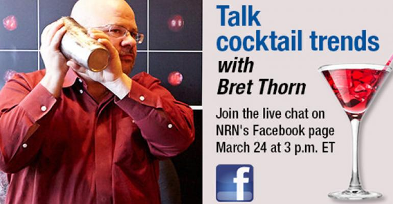 Chat cocktail trends on Facebook with NRN senior food editor Bret Thorn