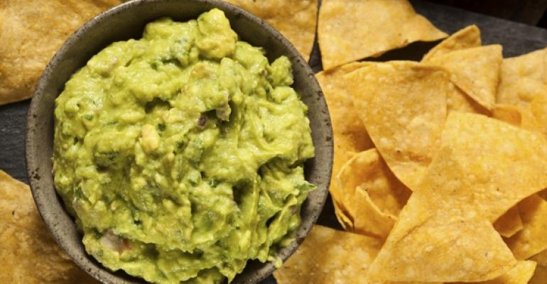 Guacamole and chips rose 27 in popularity on March Madness weekday game days a GrubHub study shows Photo Thinkstock