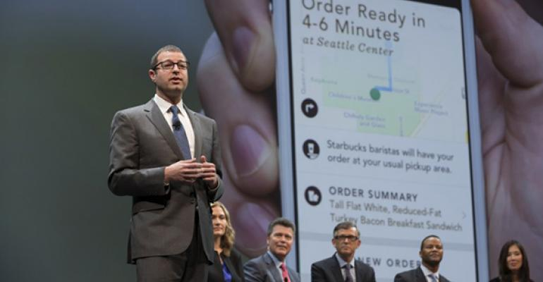 Adam Brotman Starbucks chief digital officer talks about delivery during  23rd annual shareholder meeting