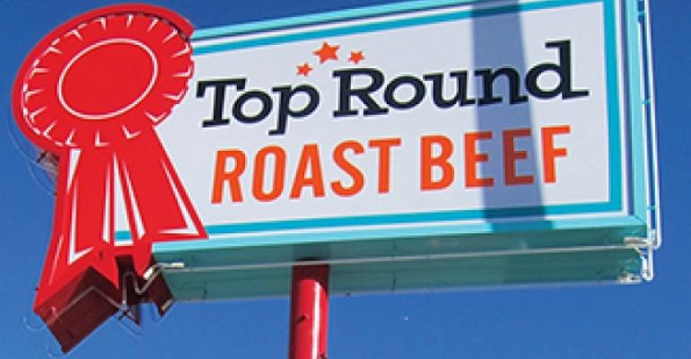 Top Round Roast Beef39s retro design harkens back to the early days of fastfood chains