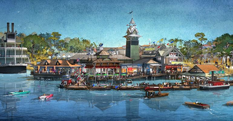 A rendering of The Boathouse at Disney