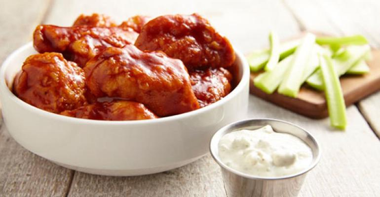 The new bourbon barbecue wings at Buffalo Wings amp Rings