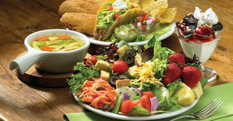 Eclectic offerings from Sizzlerrsquos endless salad bar
