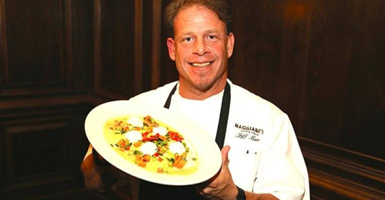 Jeff Mann Maggianorsquos research and development chef with glutenfree cheese ravioli
