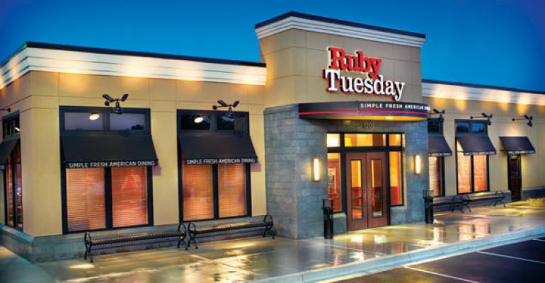 Ruby Tuesday emphasizing value, variety, families