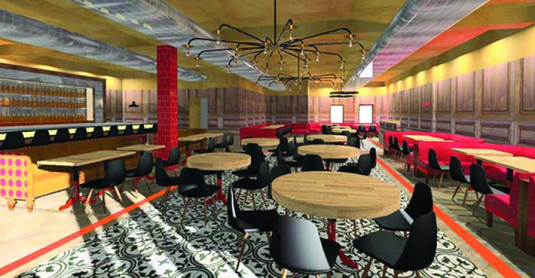 A rendering of the new Tasco Chino restaurant in New York City which combines Spanish and Chinese cuisine