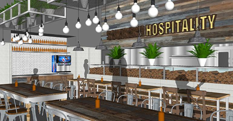 Interior rendering of Southern Hospitality39s fastcasual format