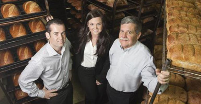 From left Jeff Brunello and Kristina Brunello creators of Fire Oak amp Barley with their father Dan Brunello CEO of Le Boulanger Inc