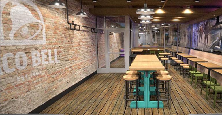 Wicker Park Taco Bell interior rendering