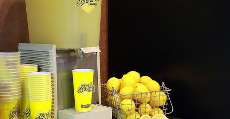 Penn Station East Coast Subs is promoting its lemonade this summer by giving it away for free at locations where the temperature outside is 100 degrees Fahrenheit or higher