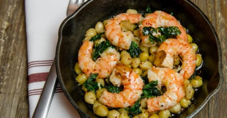 The Little Beet39s tender shrimp chickpeas garlic and chile