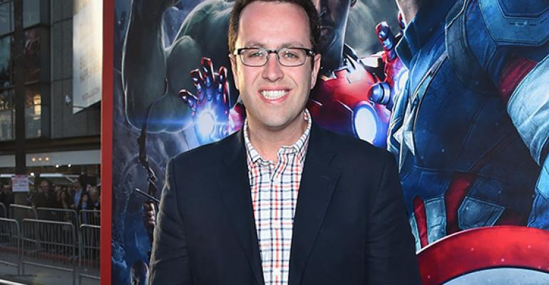 Jared Fogle attends the world premiere of Marvel39s 39Avengers Age Of Ultron39 at the Dolby Theatre on April 13 2015 in Hollywood California