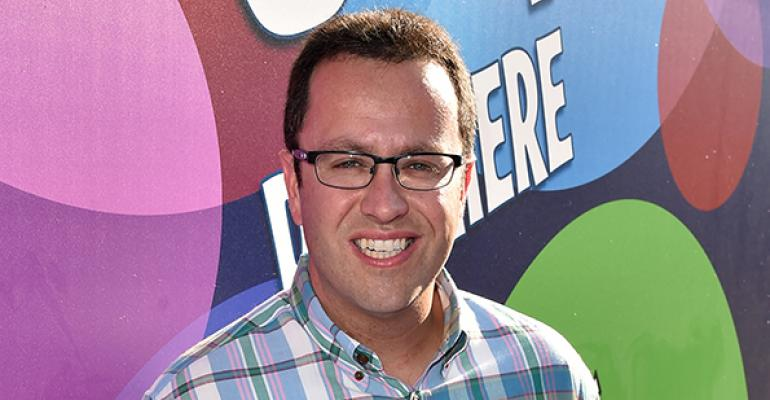 Subway spokesperson Jared Fogle on June 8 in Hollywood