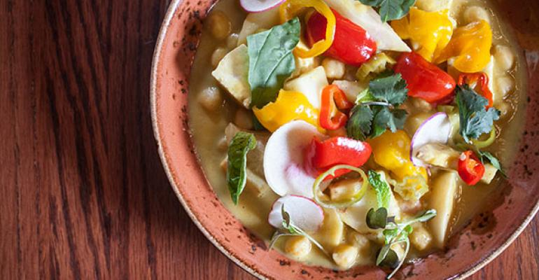 Chef Nicole Pederson allows root veggies to shine in her signature Turmeric and Root Vegetable Stew at Found in Evanston Ill