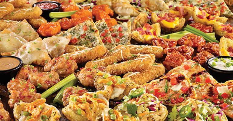 TGI Fridays has brought back its quotEndless Appetizersquot promotion priced at 10