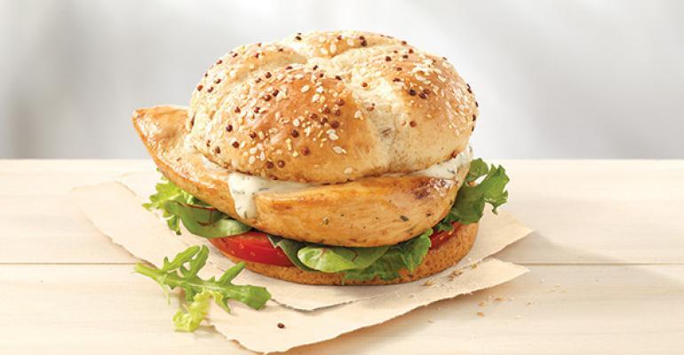 Wendy39s Grilled Chicken sandwich
