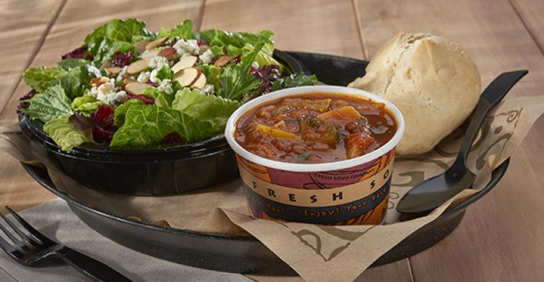 A combo meal at Zoup