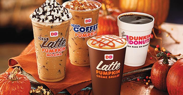 Dunkin39 Donuts39 pumpkinflavored beverage line