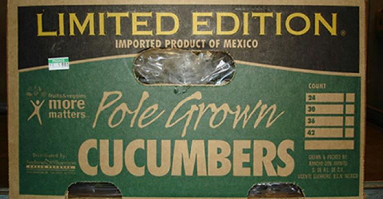 Cucumbers suspected in the outbreak were shipped in cartons like this by Andrew amp Williamson Fresh Produce