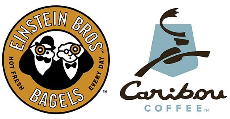 Caribou Coffee co-brands with Einstein Bros. Bagels in Colorado